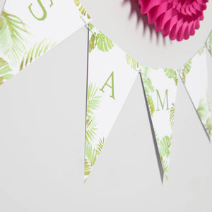 Bespoke Botanical Bunting - room decorations