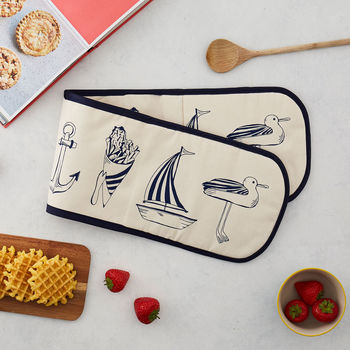 Nautical Double Oven Glove
