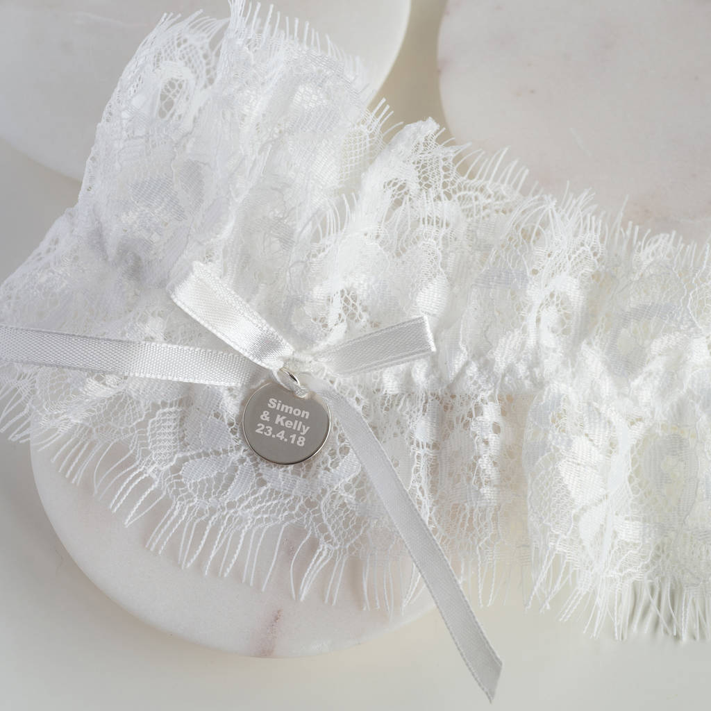 Personalised Wedding Garter By Oh So Cherished