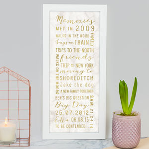 Personalised Best Memories Print - view all father's day gifts