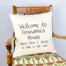Personalised 'Grandma's House' Cushion