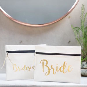 Bride And Bridesmaid's Make Up Bags