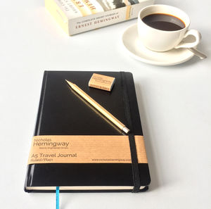 Handmade Mechanical Pencil, Journal And Rubber Gift Set - diaries, stationery & books