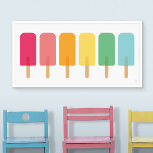 Coloured Lollies Panoramic Print - children's room