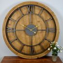 Solid Wood Large Wall Clock