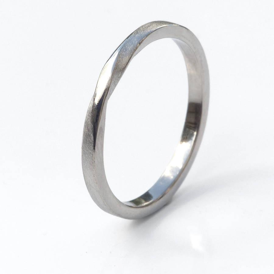 ribbon twist wedding ring 18ct gold or platinum by lilia nash