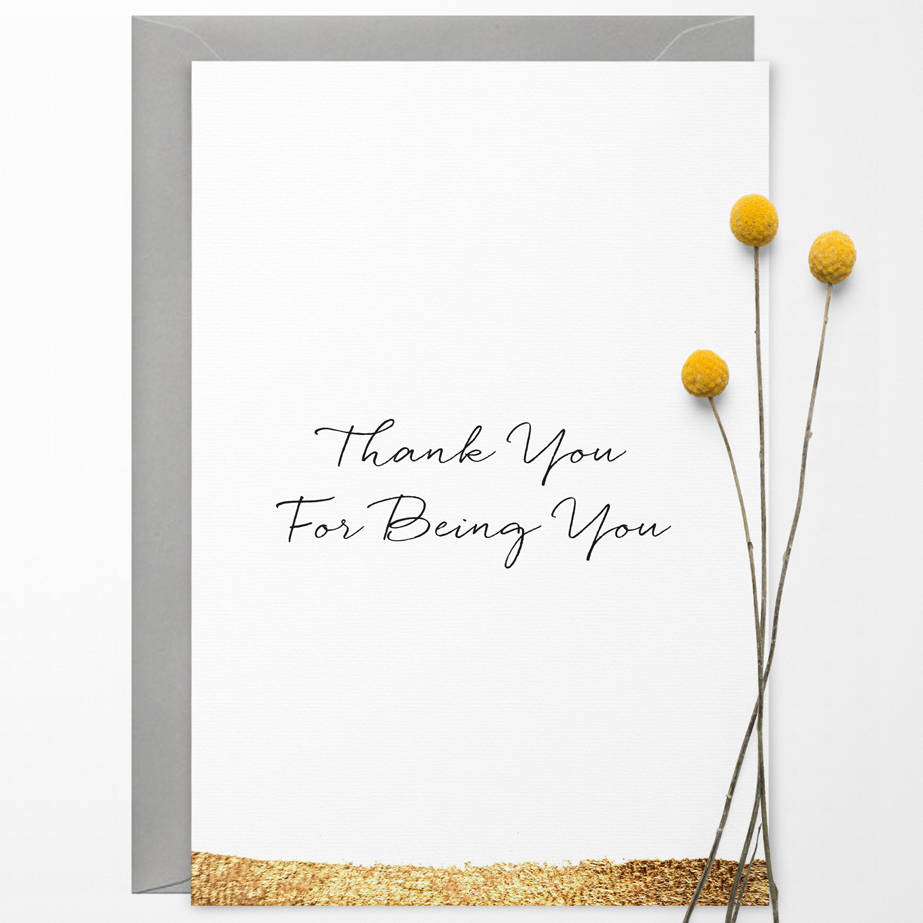 Thank you for being you greetings card by confetti designs thank you for being you greetings card m4hsunfo