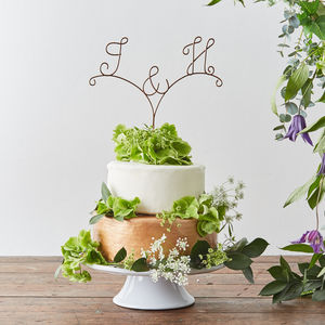 Personalised Initial Wire Cake Topper - cake toppers & decorations