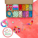 Personalised Tropical And Rainbow Bracelet Making Kit