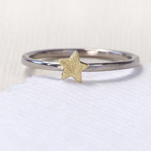 Star Stacking Ring, 18ct Eco Gold - women's jewellery