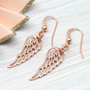 Rose Or Yellow Gold Angel Wing Earrings