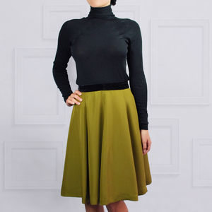 Paris Skirt Olive Green