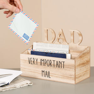 Desk tidy ideas notonthehighstreet personalised home office dads mail tidy desk accessories gumiabroncs Choice Image