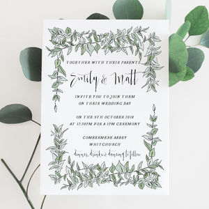 Greenery Wedding Invitation - invitations