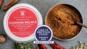 Tandoori Rub Shortlisted For A Great British Food Award - aspiring chef