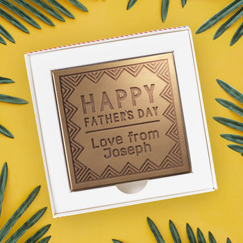 Personalised Happy Father's Day Chocolate Card