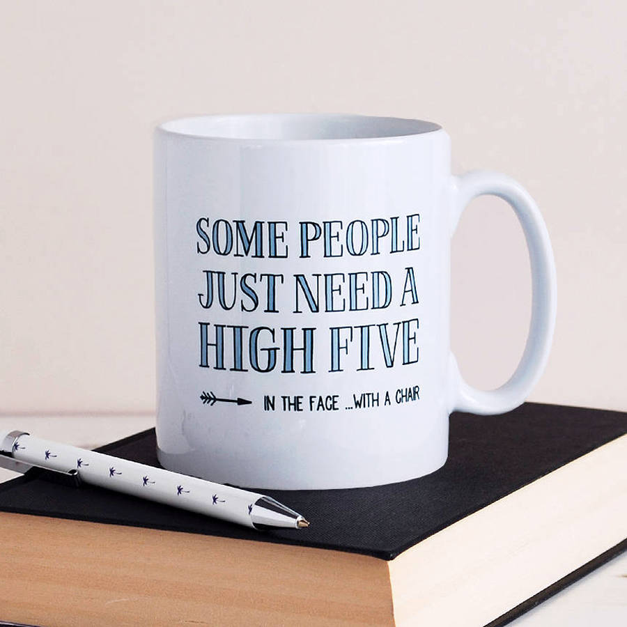 High Five Funny Mug