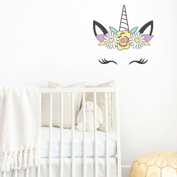 Unicorn Head Wall Sticker