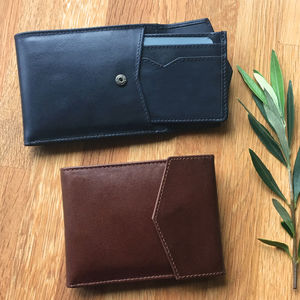 Leather Wallet With Removable Card Holder Rfid Potected