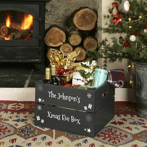 Personalised Christmas Eve Crate - cards & wrap
