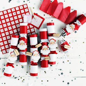Christmas Santa Bingo Crackers - table decorations