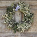Vintage Pastel Dried Flower Wreath
