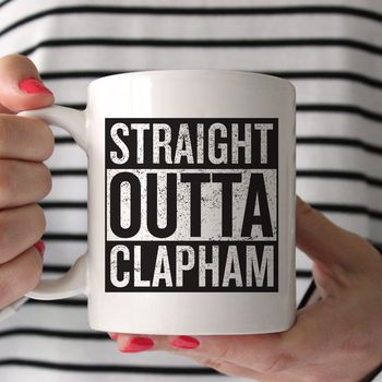Personalised 'Straight Outta Compton' Hometown Mug