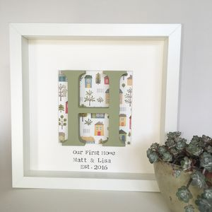 Personalised Home Wooden Box Frame