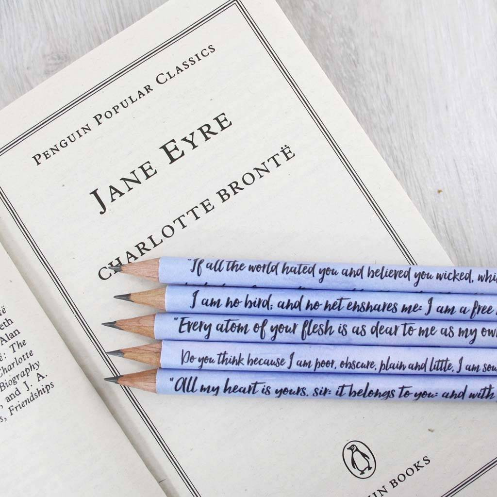 Quotes Jane Eyre Personalised Jane Eyre Quote Pencilssix0Six Design