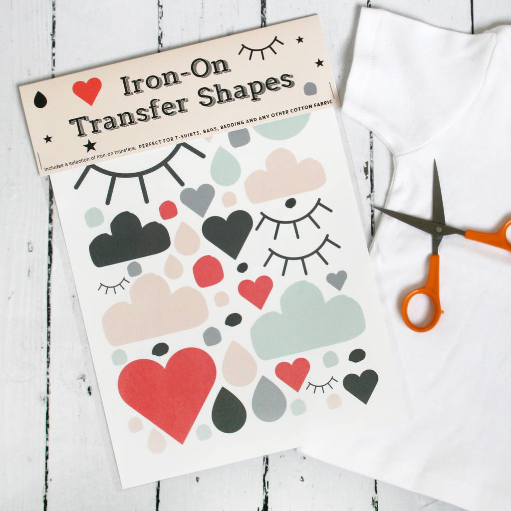 Iron On Transfer Shapes