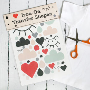 Iron On Transfer Shapes - stocking fillers