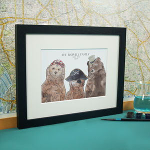 Personalised Bear Accessories Family Print - family & home