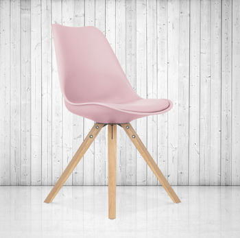 Pastel Coloured Dining Chair, Scandinavian Style, X Two