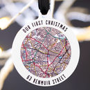 Location Map Hanging Christmas Tree Decoration