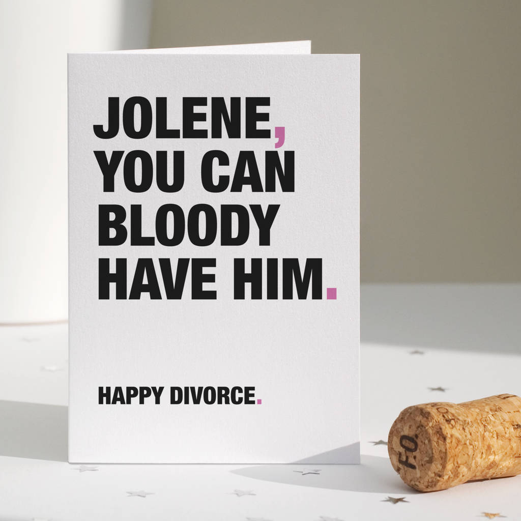 Funny divorce card by wordplay design notonthehighstreet funny divorce card solutioingenieria Image collections