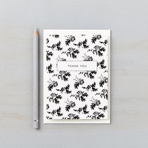 Flower Shadows Thank You Card - shop by category