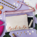 Bride To Be Suede Clutch