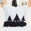 Christmas Trees And Snow Cushion