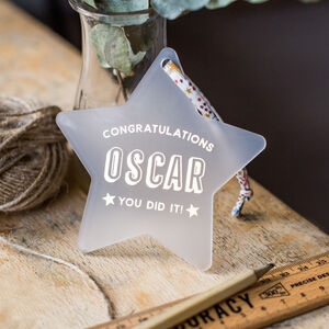 Personalised Congratulations Star Keepsake Decoration