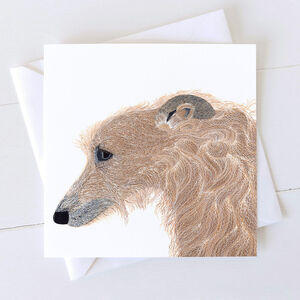 Lurcher Dog Card