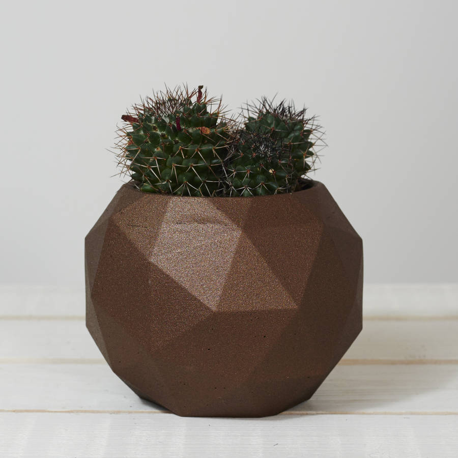 Geometric Sphere Planter Pot