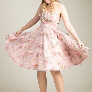 Handmade Eva May 1950s Styled 3D Floral Dress - bridesmaid dresses