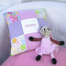 Bright Pink And Purple Name Cushion