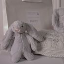 Personalised Baby Blanket And Bunny Comforter Gift Set
