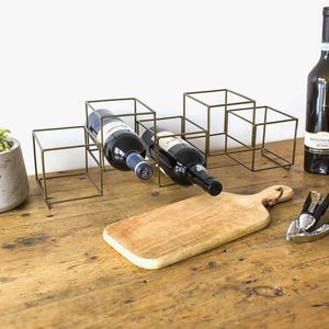 Geometric Wine Bottle Holder - gifts for him
