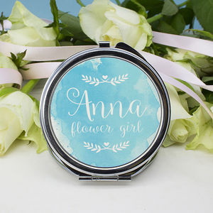 Personalised Wedding Compact Mirror - bedroom