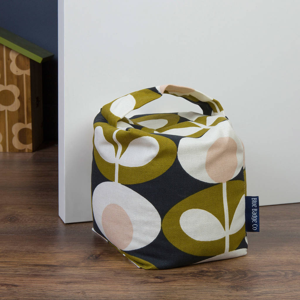Fabric Door Stop In Orla Kiely Seagrass