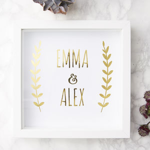 Personalised Couples Print - best wedding gifts