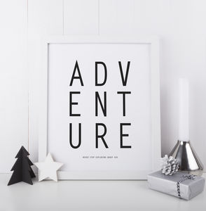 Adventure Print - new in home