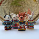 Hand Knitted Toddler Finger Puppets In Organic Cotton